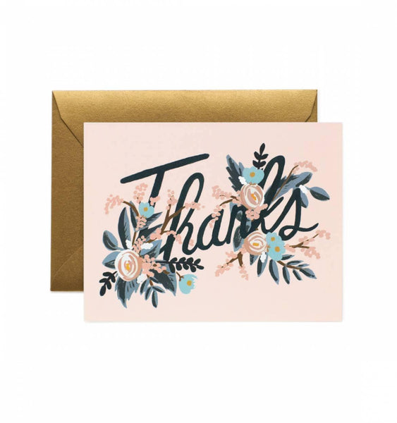 Woodland Thank You Rifle Paper Co Letterpress Card