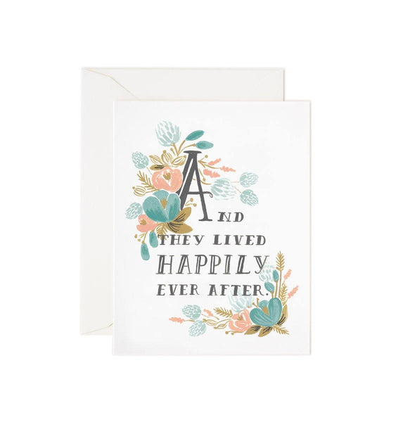 And They Lived Happily Ever After Rifle Paper Co Letterpress Card