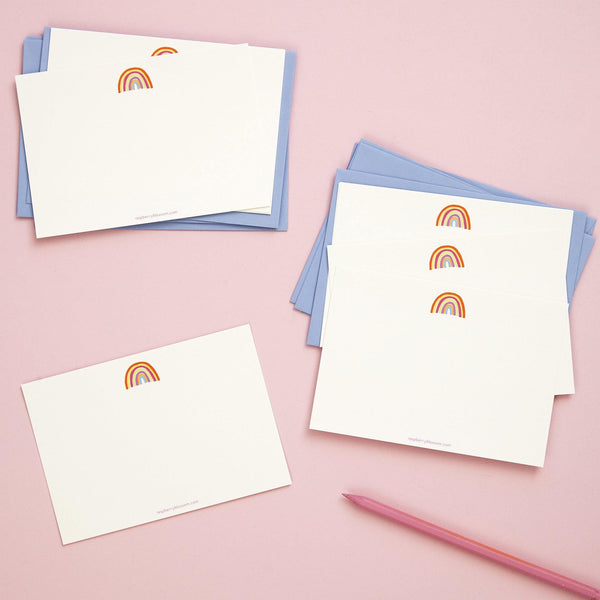 Rainbow Happy Notecards 8 Pk | Penny Black