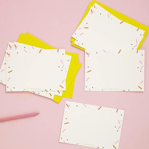 Confetti Happy Notecards 8 Pk | Penny Black