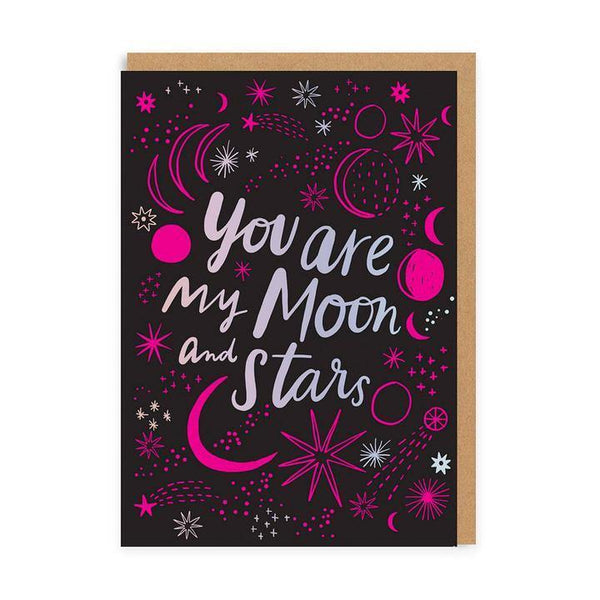 You Are My Moon & Stars Valentines Card