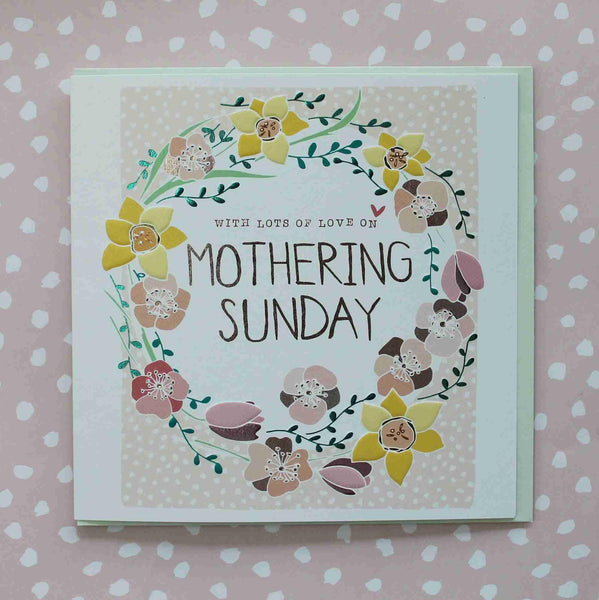With Lots Of Love On Mothering Sunday Card