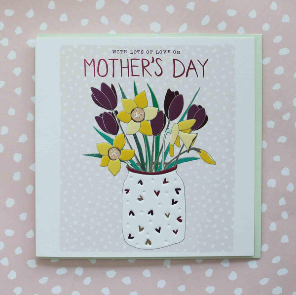 With Lots Of Love On Mother's Day Floral Card