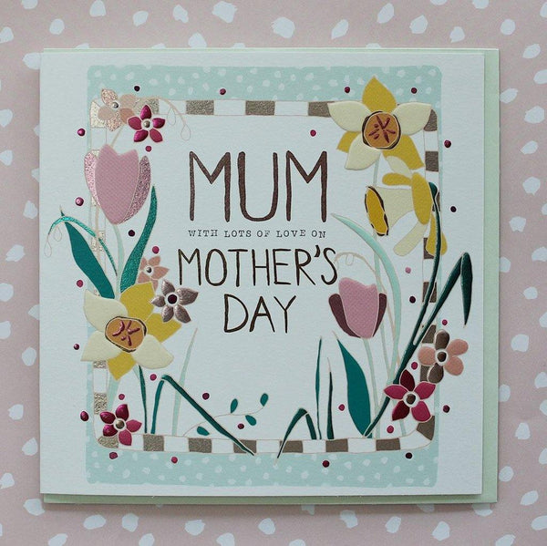 Mum Daffodils & Tulips Mother's Day Card