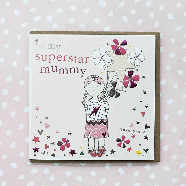 To My Superstar Mummy Pink Mother's Day Card