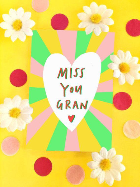 Miss You Gran Illustrated Card