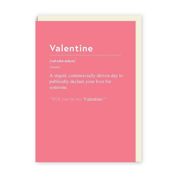 Commercially Driven Day Valentines Card