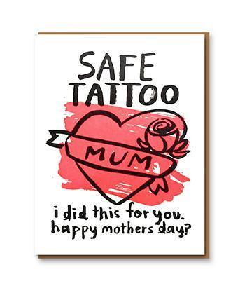 Safe Tattoo Mum Mother's Day Card | Penny Black
