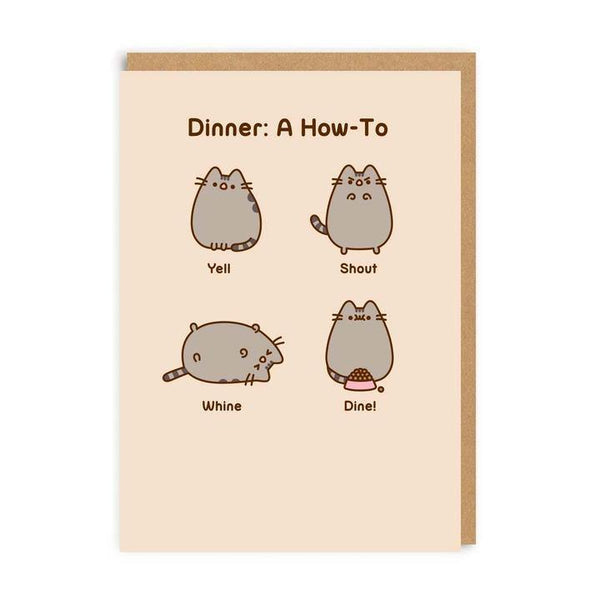Dinner: A How To Pusheen The Cat Card | Penny Black