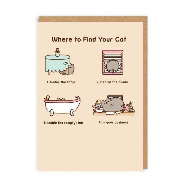 Where To Find Your Cat Pusheen The Cat Card | Penny Black