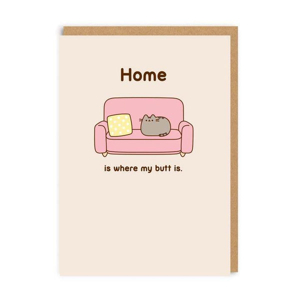 Home Is Where My Butt Is Pusheen The Cat Card | Penny Black