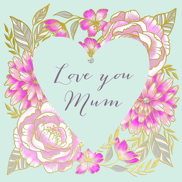 Traditional Roses Love You Mum Mother's Day Card