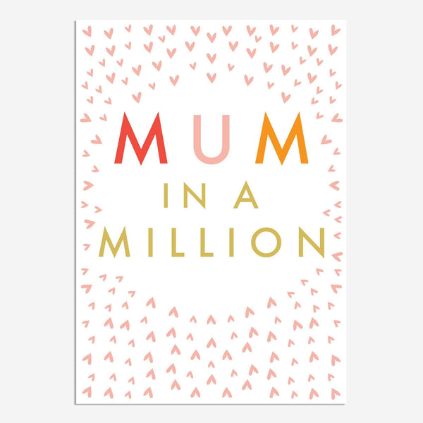 Mum In A Million Confetti Mother's Day Card