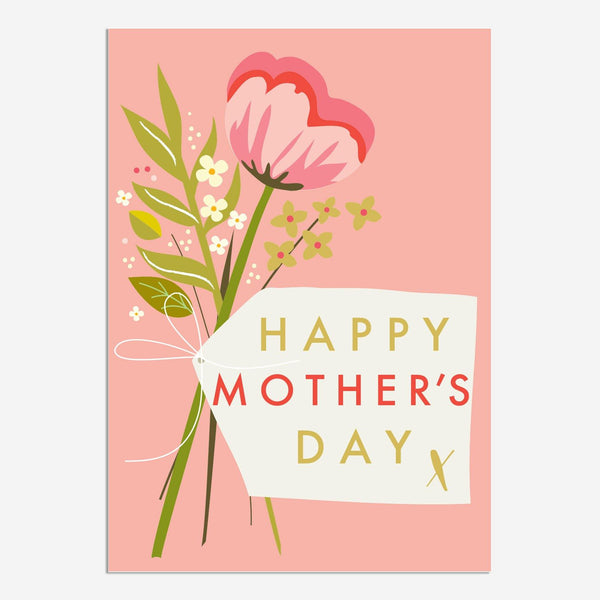 Pink Flowers Happy Mother's Day Card