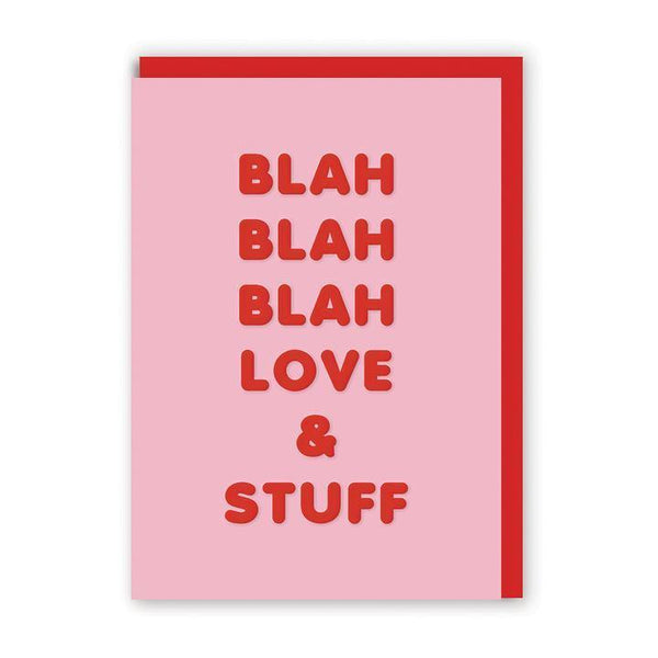 Blah Blah Blah Love & Stuff Valentines Card