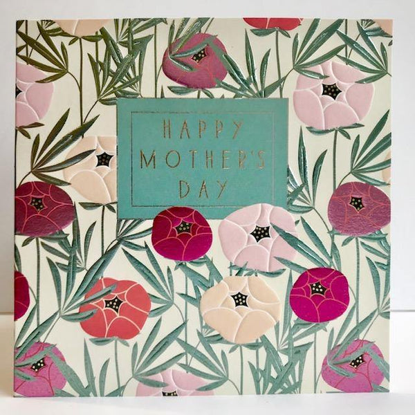 Foil Pink Peonies Mother's Day Card At Penny Black