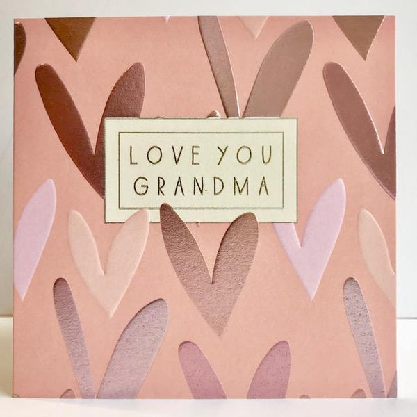 Lovely Grandma Foil Hearts Mother's Day Card At Penny Black