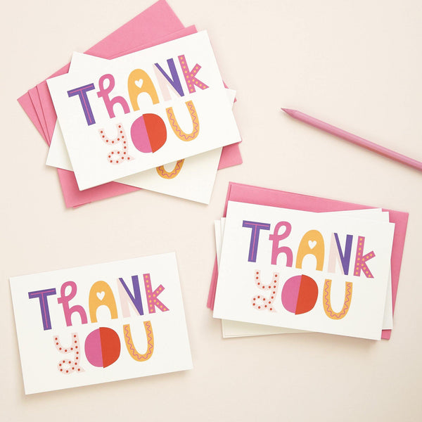 Hey You Thank You Cards 6 Pk | Penny Black
