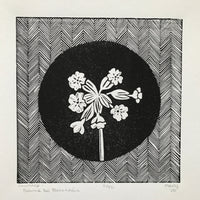 Cowslip (Bainne Bó Bleachtáin) Irish Wildflower Lino Cut Print | Original Handmade & Limited Edition by Mary Callaghan