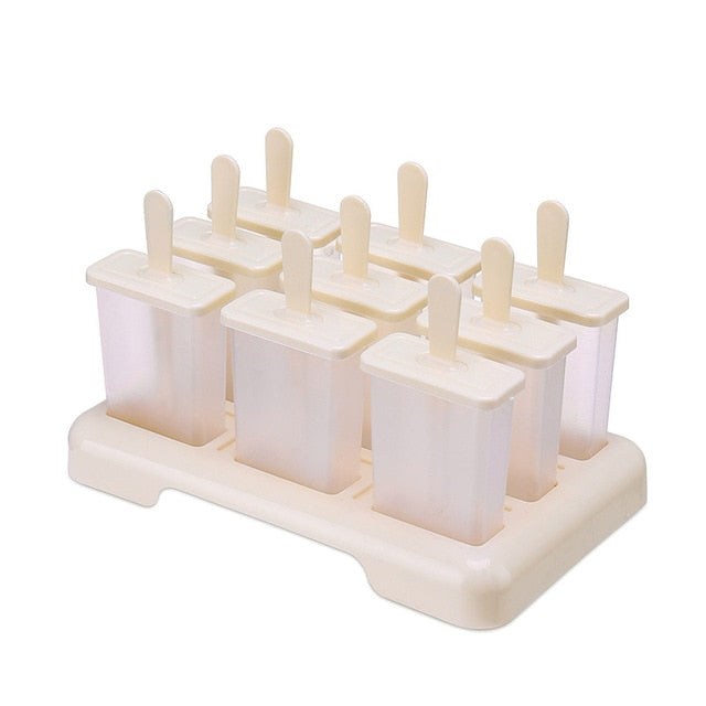 Summer Homemade Ice Cream Ice-lolly Mold Popsicle Moulds Trays DIY Accessories