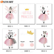 Life Is Magic Wall Picture Baby Nursery Decoration Kids Bedroom Decorative Art Cartoon Poster for Girl Canvas Painting