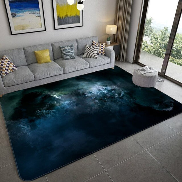 Galaxy Space Stars pattern Carpets for Living Room Bedroom Area Rug Kids Room play Mat Soft Flannel 3D Printed Home Large Carpet