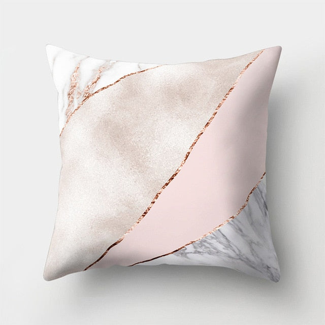 WINLIFE Geometric Pillow 45x45cm Marble Texture Throw Pillow Case for Home Decor