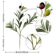 OurWarm Artificial Green Plant Olive Branch Fake Silk Leaves Fruits Home Decor Wedding Party Table Decoration Home Vase Decor