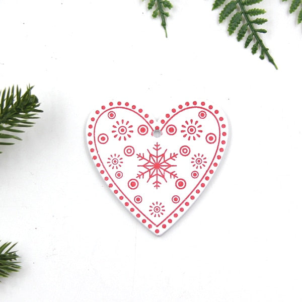 Diy white & red christmas tree/heart/star