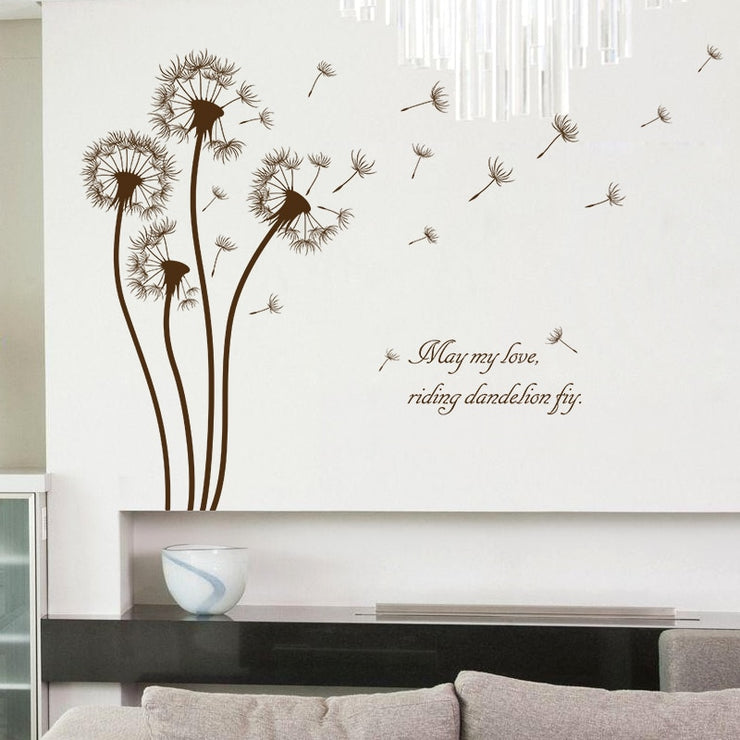 Dandelion stickers wall sticker wall art