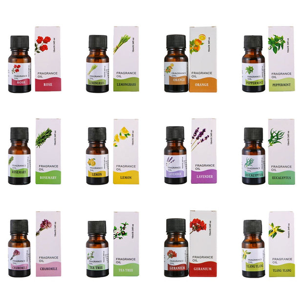 10ml Essential Oil Parfum Relieve Stress Water-soluble Flower Fruit Oil Freshing Aromatherapy Fragrance Diffuser Burner Perfume