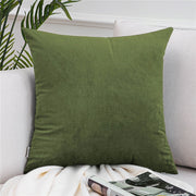 Topfinel Velvet Pillow Cases Cushion Cover Soft Solid Luxury Square Decorative Pillow Covers For Sofa Bed Car Throw Pillow