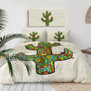 BeddingOutlet Tropical Cactus Bedding Set Succulents Duvet Cover Set Green Plant Flower Bed Cover Arrow Botanical Home Textile