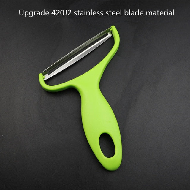 XZJJA Stainless Steel Cabbage Slicer Vegetables Graters Wide Mouth Fruit Peelers Knife Potato Big Zesters Cutter Kitchen Gadgets