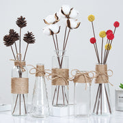 Creative Nordic Glass Vases Living Room Table Decoration Transparent Water Hydroponics Flower Rope Dry Flower Vase Diy Bottle