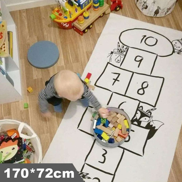 Baby Play Mat Soft Crawling Rugs Car Track pattern Puzzles Learning Toy Nordic Style Kids Room Decoration Floor Carpet