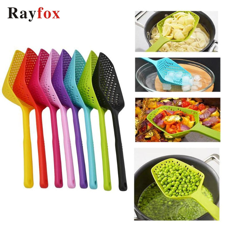 Kitchen Utensil Gadget Accessories No-stick Drain Colanders Shovel Strainers Veggies Water Leaking Kitchen Cooking Tool Supplies