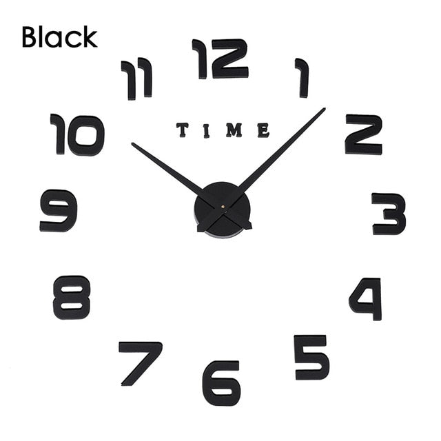 3D Luminous Real Big Wall Clock Rushed Mirror Sticker Diy Living Room Home Decor Fashion Watches Quartz Large  4