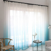 Modern gradient color window tulle curtains