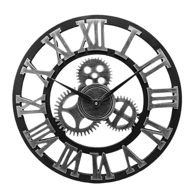 Industrial Gear Wall Clock Decorative Retro MDL Wall Clock Industrial Age Style Room Decoration Wall Art Decor
