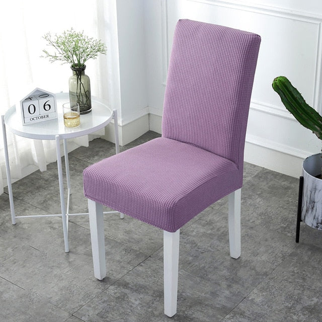 Super Soft Polar Fleece Fabric Chair Cover Elastic Spandex Chair Covers For Dining Room/Kitchen Stretch Chair Cover With Back