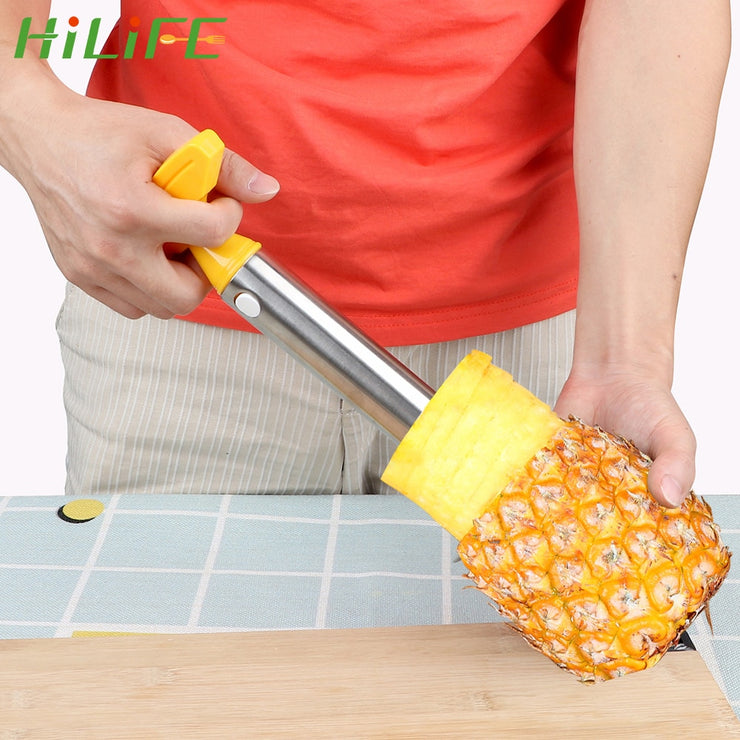 HILIFE Fruit Vegetable Knife Stainless Steel  Gadget Kitchen Accessories Pineapple Peeler Spiralizer Cutter  Core Peel Slicer