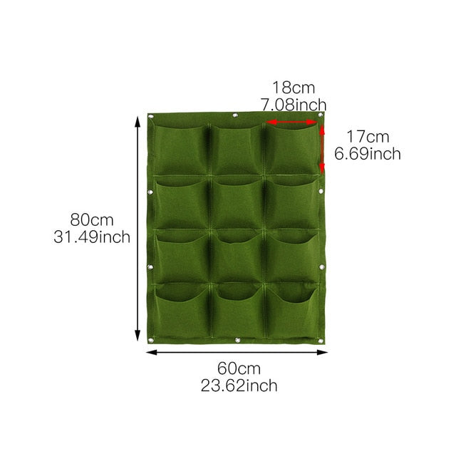 Wall Hanging Planting Bags 24 Size Pockets Green Grow Bag Planter Vertical Garden Vegetable Living Bonsai Bag Flower Home Supply