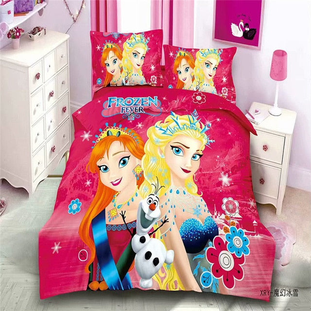 Disney Rapunzel  Cinderella Princess Kids Girls Bedding Set Duvet Cover Bed Sheet Pillow Cases Twin Single Size  Drop Shipping