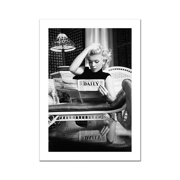 Famous Person Photography Poster Movie Star Canvas Painting Black White Wall Art Picture For Living Room Modern Decorative Prins