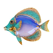 Home Decor Metal Fish Artwork for Garden Decoration Outdoor Animales Jardin with Colour Glass for Garden Statues and Sculptures