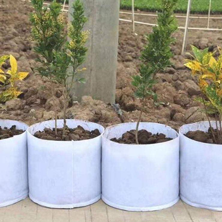 Non Woven Grow Bag Aeration Pot Containers Plant bag 5 Size Root Container White Round Fabric Pots 1pcs