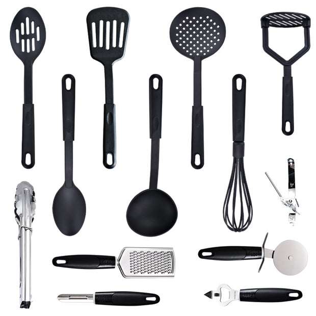 7/13PC Heat Resistant Nylon Cookware Set Nonstick Cooking Tools Kitchen & Baking Tool Kit Utensils Spoon Turner Accessories