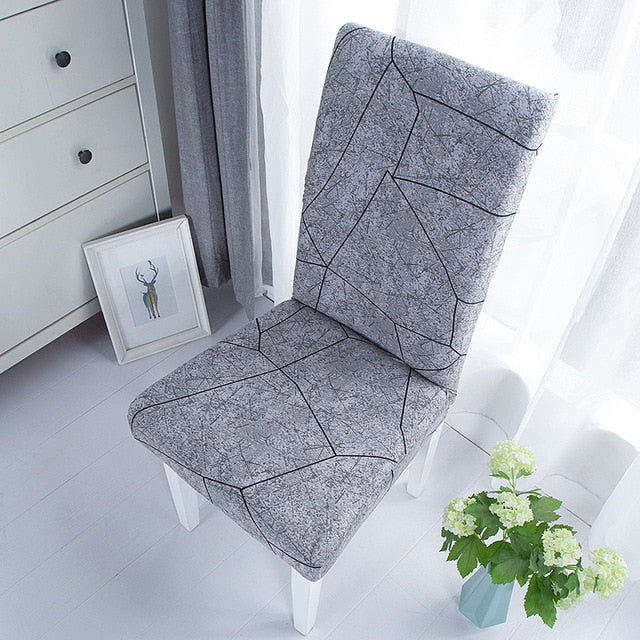 Plain Dining Chair Cover Spandex Elastic Chair Slipcover Case Stretch Seat Cover for Wedding Hotel Banquet Living Room