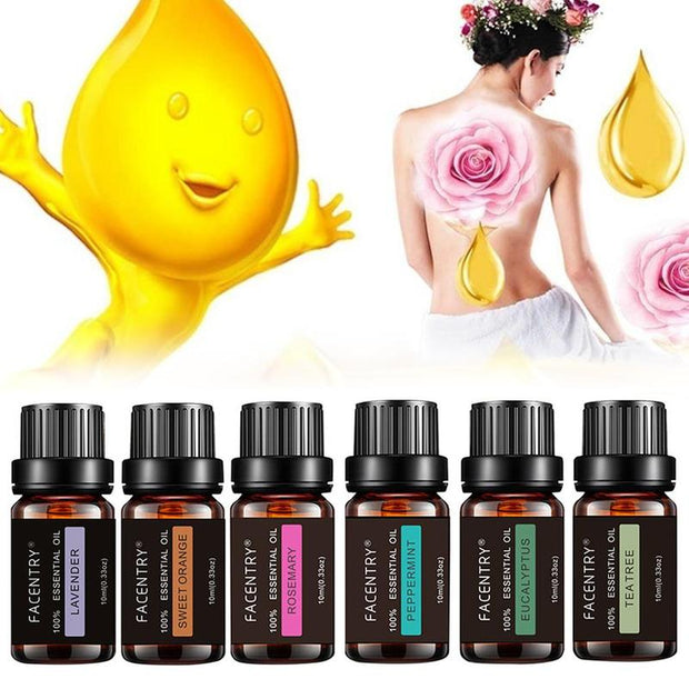 100% Pure Natural Aromatherapy Oils Kit 10ml For Humidifier Water-soluble Fragrance Oil Massage Essential Oil Set Free Shiping